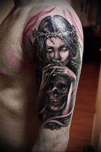 Фото тату Смерть (Death tattoo example) (значение) - пример рисунка - 010 tatufoto.com
