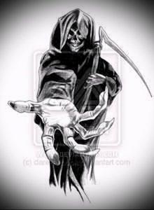 Фото тату Смерть (Death tattoo example) (значение) - пример рисунка - 012 tatufoto.com