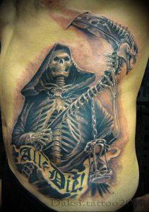Фото тату Смерть (Death tattoo example) (значение) - пример рисунка - 013 tatufoto.com