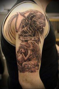 Фото тату Смерть (Death tattoo example) (значение) - пример рисунка - 015 tatufoto.com