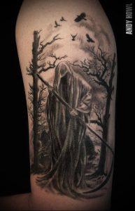 Фото тату Смерть (Death tattoo example) (значение) - пример рисунка - 017 tatufoto.com