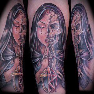 Фото тату Смерть (Death tattoo example) (значение) - пример рисунка - 021 tatufoto.com