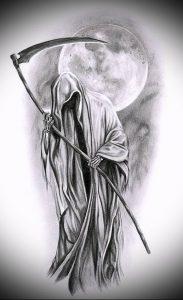Фото тату Смерть (Death tattoo example) (значение) - пример рисунка - 023 tatufoto.com