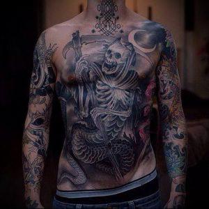 Фото тату Смерть (Death tattoo example) (значение) - пример рисунка - 024 tatufoto.com
