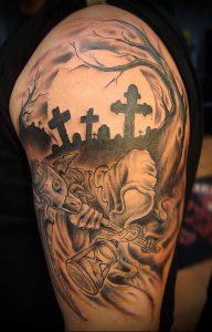 Фото тату Смерть (Death tattoo example) (значение) - пример рисунка - 025 tatufoto.com