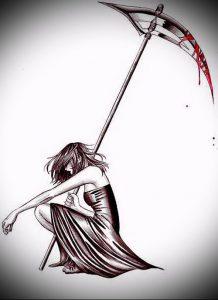 Фото тату Смерть (Death tattoo example) (значение) - пример рисунка - 027 tatufoto.com