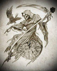 Фото тату Смерть (Death tattoo example) (значение) - пример рисунка - 034 tatufoto.com