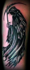 Фото тату Смерть (Death tattoo example) (значение) - пример рисунка - 035 tatufoto.com