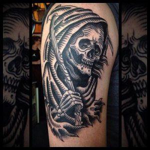 Фото тату Смерть (Death tattoo example) (значение) - пример рисунка - 036 tatufoto.com
