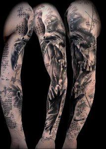 Фото тату Смерть (Death tattoo example) (значение) - пример рисунка - 037 tatufoto.com