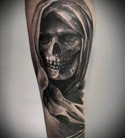 Фото тату Смерть (Death tattoo example) (значение) — пример рисунка — 043 tatufoto.com