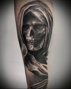 Фото тату Смерть (Death tattoo example) (значение) - пример рисунка - 043 tatufoto.com