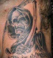 Фото тату Смерть (Death tattoo example) (значение) — пример рисунка — 045 tatufoto.com