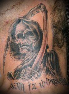Фото тату Смерть (Death tattoo example) (значение) - пример рисунка - 045 tatufoto.com
