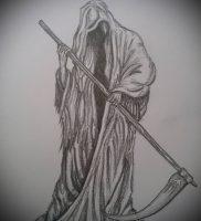 Фото тату Смерть (Death tattoo example) (значение) — пример рисунка — 046 tatufoto.com