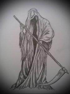 Фото тату Смерть (Death tattoo example) (значение) - пример рисунка - 046 tatufoto.com