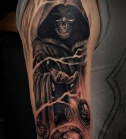 Фото тату Смерть (Death tattoo example) (значение) — пример рисунка — 047 tatufoto.com