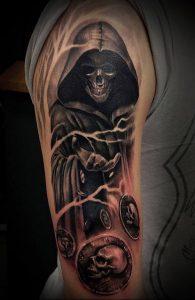 Фото тату Смерть (Death tattoo example) (значение) - пример рисунка - 047 tatufoto.com