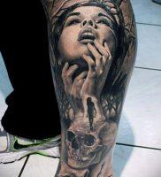 Фото тату Смерть (Death tattoo example) (значение) — пример рисунка — 051 tatufoto.com