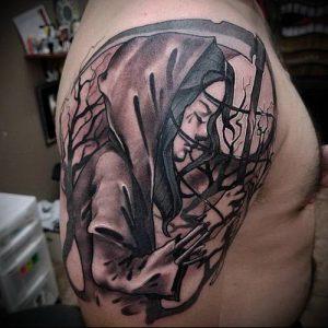 Фото тату Смерть (Death tattoo example) (значение) - пример рисунка - 053 tatufoto.com