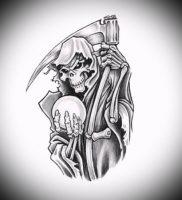 Фото тату Смерть (Death tattoo example) (значение) — пример рисунка — 054 tatufoto.com
