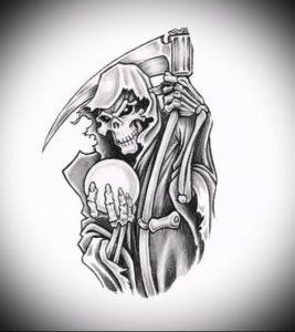 Фото тату Смерть (Death tattoo example) (значение) - пример рисунка - 054 tatufoto.com