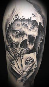 Фото тату Смерть (Death tattoo example) (значение) - пример рисунка - 056 tatufoto.com