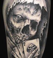 Фото тату Смерть (Death tattoo example) (значение) — пример рисунка — 056 tatufoto.com