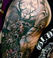 Фото тату Смерть (Death tattoo example) (значение) — пример рисунка — 057 tatufoto.com
