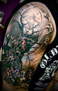 Фото тату Смерть (Death tattoo example) (значение) - пример рисунка - 057 tatufoto.com