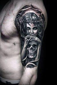 Фото тату Смерть (Death tattoo example) (значение) - пример рисунка - 062 tatufoto.com