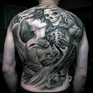 Фото тату Смерть (Death tattoo example) (значение) - пример рисунка - 063 tatufoto.com