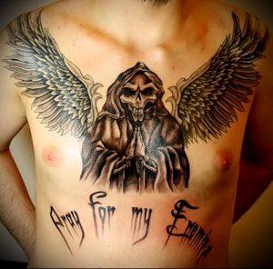 Фото тату Смерть (Death tattoo example) (значение) - пример рисунка - 067 tatufoto.com