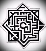 Фото тату лабиринт — пример — 29052017 — пример — 004 tattoo maze