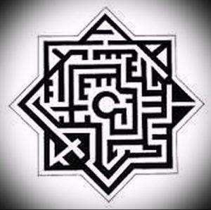 Фото тату лабиринт - пример - 29052017 - пример - 004 tattoo maze