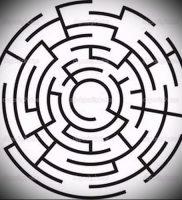 Фото тату лабиринт — пример — 29052017 — пример — 005 tattoo maze
