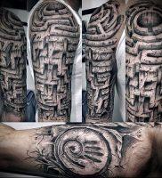 Фото тату лабиринт — пример — 29052017 — пример — 008 tattoo maze