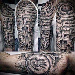 Фото тату лабиринт - пример - 29052017 - пример - 008 tattoo maze