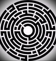 Фото тату лабиринт — пример — 29052017 — пример — 009 tattoo maze