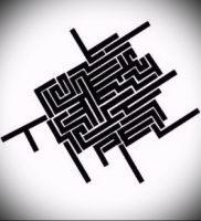Фото тату лабиринт — пример — 29052017 — пример — 010 tattoo maze