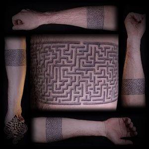 Фото тату лабиринт - пример - 29052017 - пример - 012 tattoo maze