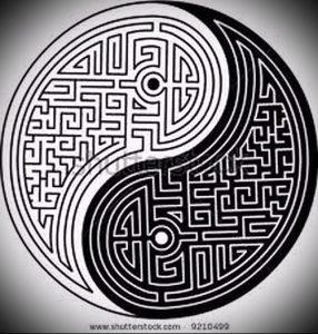 Фото тату лабиринт - пример - 29052017 - пример - 020 tattoo maze
