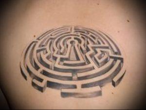 Фото тату лабиринт - пример - 29052017 - пример - 023 tattoo maze