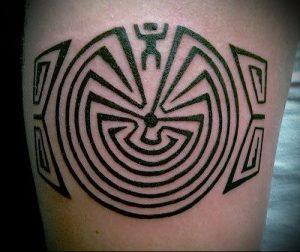Фото тату лабиринт - пример - 29052017 - пример - 033 tattoo maze