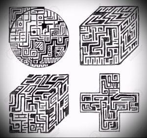 Фото тату лабиринт - пример - 29052017 - пример - 034 tattoo maze