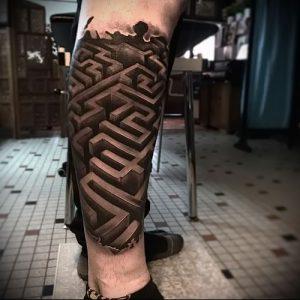 Фото тату лабиринт - пример - 29052017 - пример - 041 tattoo maze