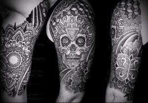 Фото тату лабиринт - пример - 29052017 - пример - 044 tattoo maze