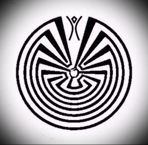 Фото тату лабиринт - пример - 29052017 - пример - 045 tattoo maze