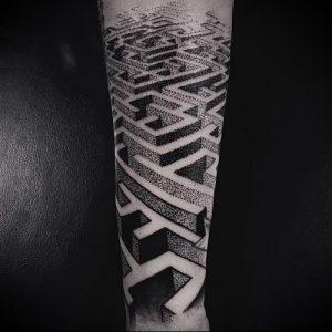 Фото тату лабиринт - пример - 29052017 - пример - 051 tattoo maze