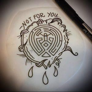 Фото тату лабиринт - пример - 29052017 - пример - 052 tattoo maze